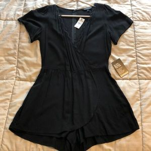 NWT Express Romper with lace trim